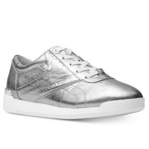 Michael Kors Addie Silver Leather Sneakers